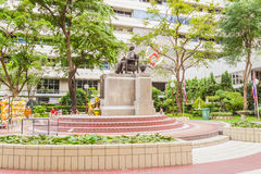 Prince Mahidol Memorial statue at the center of Siriraj hospital in Bangkok Royalty Free Stock Images