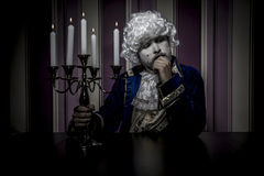 Prince, man dressed in rococo style, concept of wealth and pover Stock Photo