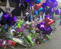 Prince Memorial outside of First Avenue, Minneapolis stock images