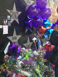 Prince Memorial outside of First Avenue, Minneapolis stock photo