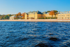 Prince Menshikov Palace on the embankment of Neva river in St Petersburg, Russia Royalty Free Stock Photos