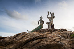Prince and mermaid landmark of samet island Stock Image