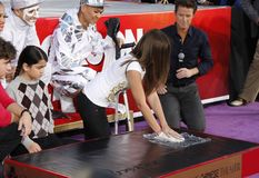 Prince Michael, Blanket and Paris Jackson. At the Michael Jackson Hand And Footprint Ceremony held at the Grauman`s Chinese Theater, California, United States Stock Images