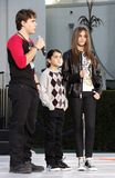 Prince Michael, Blanket and Paris Jackson. At the Michael Jackson Hand And Footprint Ceremony held at the Grauman`s Chinese Theater, California, United States Stock Photo