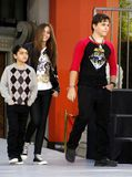 Prince Michael, Blanket and Paris Jackson. At the Michael Jackson Hand And Footprint Ceremony held at the Grauman`s Chinese Theater, California, United States Royalty Free Stock Photo