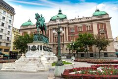 Free Prince Michael Statue In Belgrade Royalty Free Stock Images - 187299039
