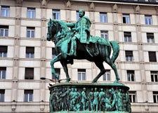 Prince Mihailo Monument, Belgrade Royalty Free Stock Photo