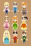 Prince- och princesstecken vektor illustrationer