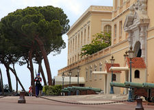 Prince Palace of Monaco and honor guard, Monte-Carlo, Stock Photography