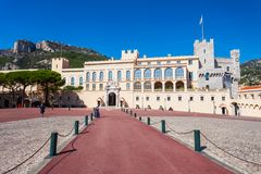 The Prince Palace of Monaco. Is the official residence of the Sovereign Prince of Monaco royalty free stock photography