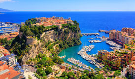Prince Palace and old town of Monaco, France Royalty Free Stock Photo