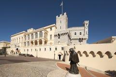 Prince& x27; palacio de s de Mónaco Imágenes de archivo libres de regalías