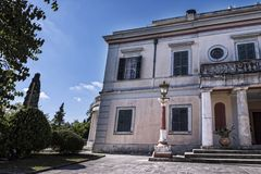 Mon Repos palace which was built in 1924 by High Commissioner Frederick Adam and became later property of the Greek royal family Royalty Free Stock Photography