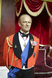 The prince philip, duke of edinburgh wax figure Royalty Free Stock Photos