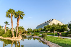 Prince Philip Science Museum of City of Arts and Sciences. VALENCIA, SPAIN - JULY 21, 2016: Prince Philip Science Museum of City of Arts and Sciences is an Royalty Free Stock Image