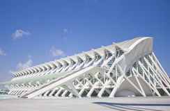 Prince Philip Science Museum. Modern architecture of Valencia. Museum complex Stock Photography