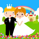 Prince and princess Royalty Free Stock Images