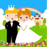 Prince and princess stock illustration