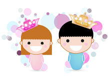 Prince and princess Royalty Free Stock Photos