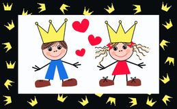 Prince and princess royalty free stock image