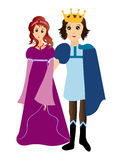Prince and princess Stock Photography
