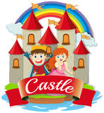 Prince and princess at the castle Royalty Free Stock Image