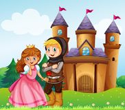 Prince and princess at the castle Royalty Free Stock Images