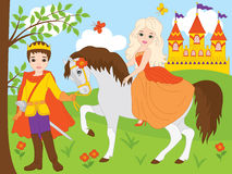 Prince and Princess - Fairytale Set Stock Images