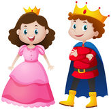 Prince and princess with happy face Stock Photography