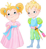 Prince and Princess. Illustration of very cute Prince and Princess Royalty Free Stock Images