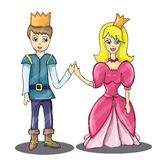 Prince and Princess in love Stock Images