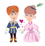 Prince and princess in love Stock Photo