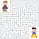 Prince & Princess Maze for Kids Stock Images