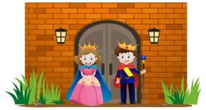 Prince and princess at the palace Stock Photo