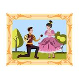 Prince and princess in the picture Stock Images