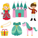 Prince and Princess set Royalty Free Stock Images