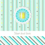 Prince (princess) was born! baby born card Royalty Free Stock Photography