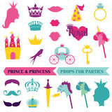 Prince and Priness Party set royalty free illustration