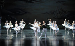 The prince rescued princess Ojta from the lake-The last scene of Swan Lake-ballet Swan Lake Royalty Free Stock Photos