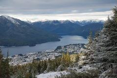 Prince Rupert, BC vue airial Images libres de droits