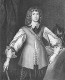 Prince Rupert of the Rhine. (1619-1682) on engraving from the 1800s. Noted soldier, admiral, scientist, sportsman, colonial governor and amateur artist Stock Image