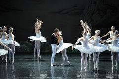 The prince's kiss to let Ojta get rid of magic-The last scene of Swan Lake-ballet Swan Lake Stock Image