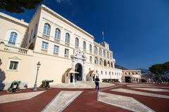 Prince`s Palace of Monaco Stock Photo