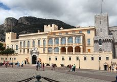 Prince`s Palace in Monaco City royalty free stock photography