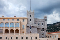 Prince's Palace of Monaco - It is the official residence of the. Prince of Monaco, built in 1191 stock images