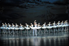 Prince Siegfried falls in love with the Swan Princess Ojta-ballet Swan Lake Royalty Free Stock Photography