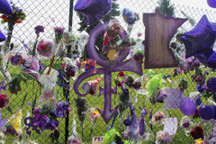 Prince the Singer Memorial Stock Photo