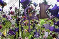 Prince the Singer Memorial Stock Photo