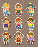 Prince stickers. Cartoon vector illustration Stock Photo