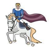 Prince sur le cheval blanc Photos libres de droits